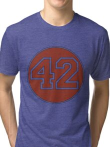 42 - red circle Tri-blend T-Shirt