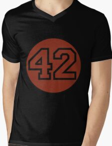 42 - red circle Mens V-Neck T-Shirt