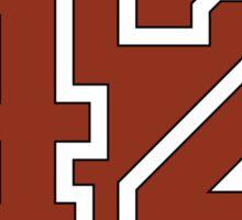 42 - red circle Sticker