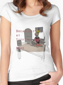 Breakfast at Tiffany's! xoxo Women's Fitted Scoop T-Shirt