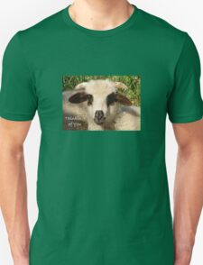 Ewe Portrait With Thinking of You Greeting T-Shirt