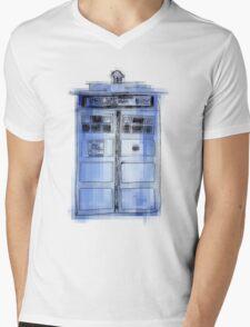 Tardis! Mens V-Neck T-Shirt