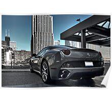 Ferrari California Chicago Poster