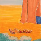 Sitting on the beach by carol selchert