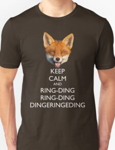 The Fox Keeps Calm Unisex T-Shirt