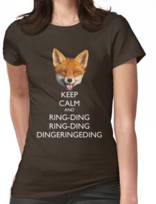 The Fox Keeps Calm Womens Fitted T-Shirt