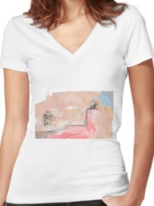 Doctor Who! Women's Fitted V-Neck T-Shirt