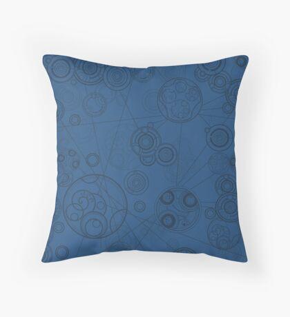 Gallifrey Pattern - Blue Throw Pillow