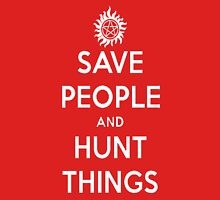 Saving People, Hunting Things Womens Fitted T-Shirt
