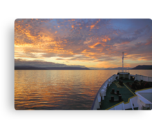 Sunset on the Beagle Channel Canvas Print