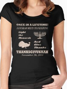 Classic Thanksgivukkah - Hanukkah meets Thanksgiving Women's Fitted Scoop T-Shirt