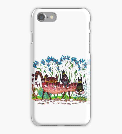 Kittyback ride iPhone Case/Skin