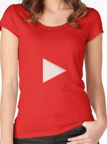 YOUTUBE LOGO Women's Fitted Scoop T-Shirt
