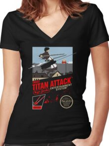Trost Titan Attack Women's Fitted V-Neck T-Shirt