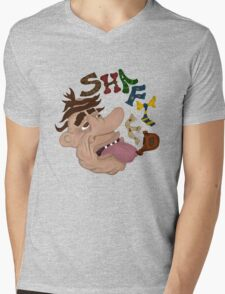 Shafted and Living Outside Mens V-Neck T-Shirt