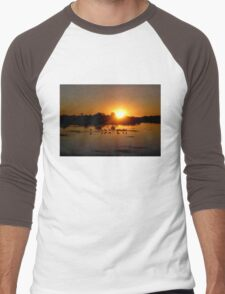 Florida Sunset Men's Baseball ¾ T-Shirt