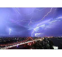 Multiple Exposure   Lightning IV Photographic Print