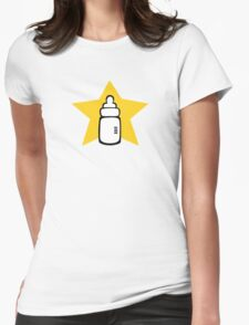 Baby bottle Star Womens Fitted T-Shirt