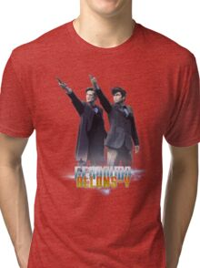 Alons-Y and Geronimo!  Tri-blend T-Shirt