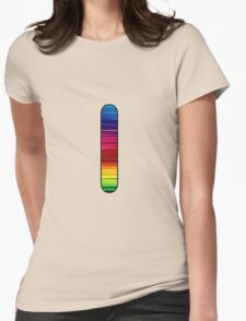 Letter Series- l Womens Fitted T-Shirt