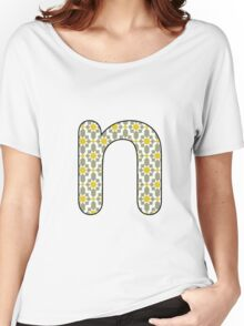 Letter Series - n Women's Relaxed Fit T-Shirt