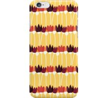 Floral stylized red and yellow pattern iPhone Case/Skin
