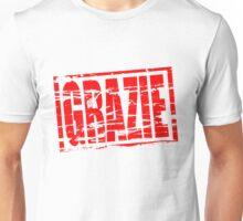 Grazie red rubber stamp effect Unisex T-Shirt