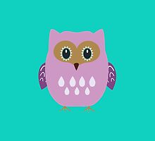 Pink owl  by ilovecotton