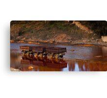 abandoned mineral wagons Canvas Print