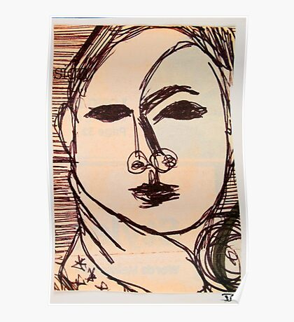 portrait of suzi wong Poster