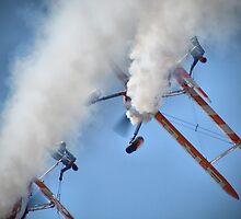 Smoking Pass - Wingwalking - Shoreham 2013 by Colin  Williams Photography