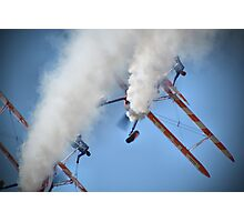 Smoking Pass - Wingwalking - Shoreham 2013 Photographic Print