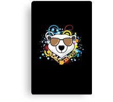 Funny Hip-Hop Polar Bear Canvas Print