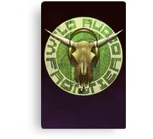 Wild Audio Frontier Headphone MP3 Cattle Skull Graphic Canvas Print