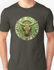Wild Audio Frontier Headphone MP3 Cattle Skull Graphic Unisex T-Shirt