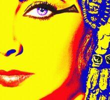 Elizabeth Taylor in Cleopatra Sticker