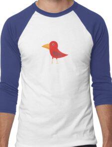 Red cute bird Men's Baseball ¾ T-Shirt