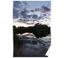 Soft Summer Semidarkness - Reflecting on Colorful Skies Poster