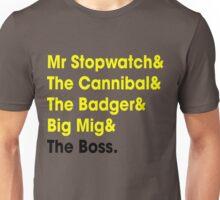 5 Times Tour Winners Nicknames (Yellow) Unisex T-Shirt