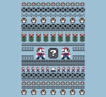 Super Mario Sweater One Piece - Short Sleeve