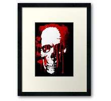 blood skull Framed Print