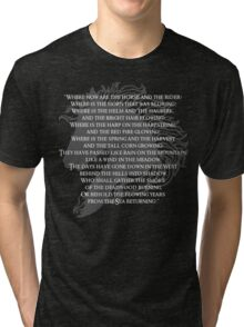 Where now are the horse and the rider Tri-blend T-Shirt