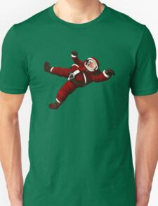 Christmas Santa Space Man Astronaut in Orbit Unisex T-Shirt