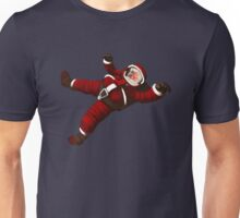 Christmas Santa Space Man Astronaut in Orbit Unisex T-Shirt