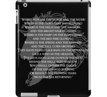 Where now are the horse and the rider iPad Case/Skin