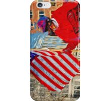 Horseback Color Guard Abstract Impressionism iPhone Case/Skin