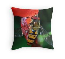 Hoverfly Macro Throw Pillow