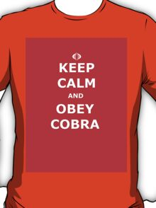 Keep Calm and Obey Cobra sticker alternative T-Shirt