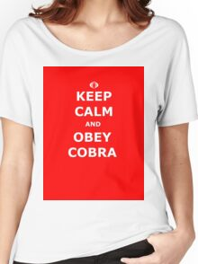 Keep Calm and Obey Cobra sticker alternative Women's Relaxed Fit T-Shirt
