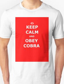 Keep Calm and Obey Cobra sticker alternative Unisex T-Shirt